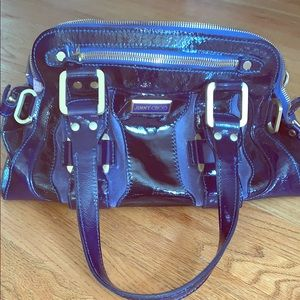 Jimmy Choo Mahala blue handbag